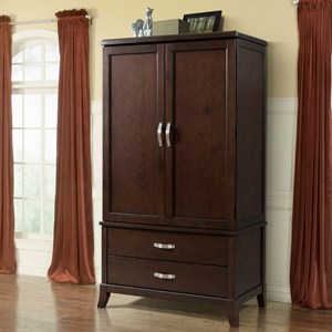 Armoire with Silver Hardware