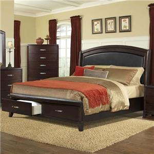 King Low Profile Bed with Storage Footboard