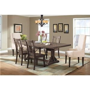 Dining Table, 4 Side Chairs & 2 Parsons Chairs