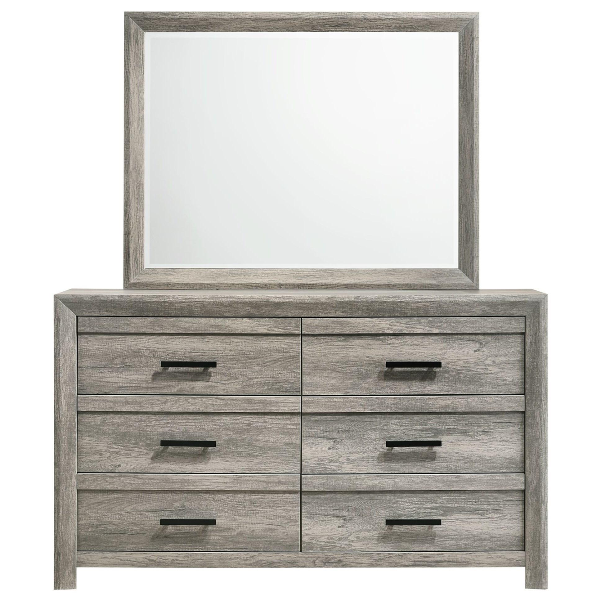 Ellen Dresser and Mirror Set by Elements International at Bullard Furniture