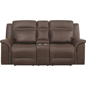 Power Dual Reclining Console Loveseat With Power Headrests And USB Ports