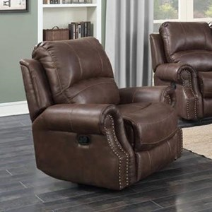 Power Recliner with Nailhead Trim