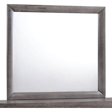 Emily Mirror with Wood Frame by Elements International at Beck's Furniture