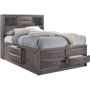 Transitional King Bed with Dovetail Drawers