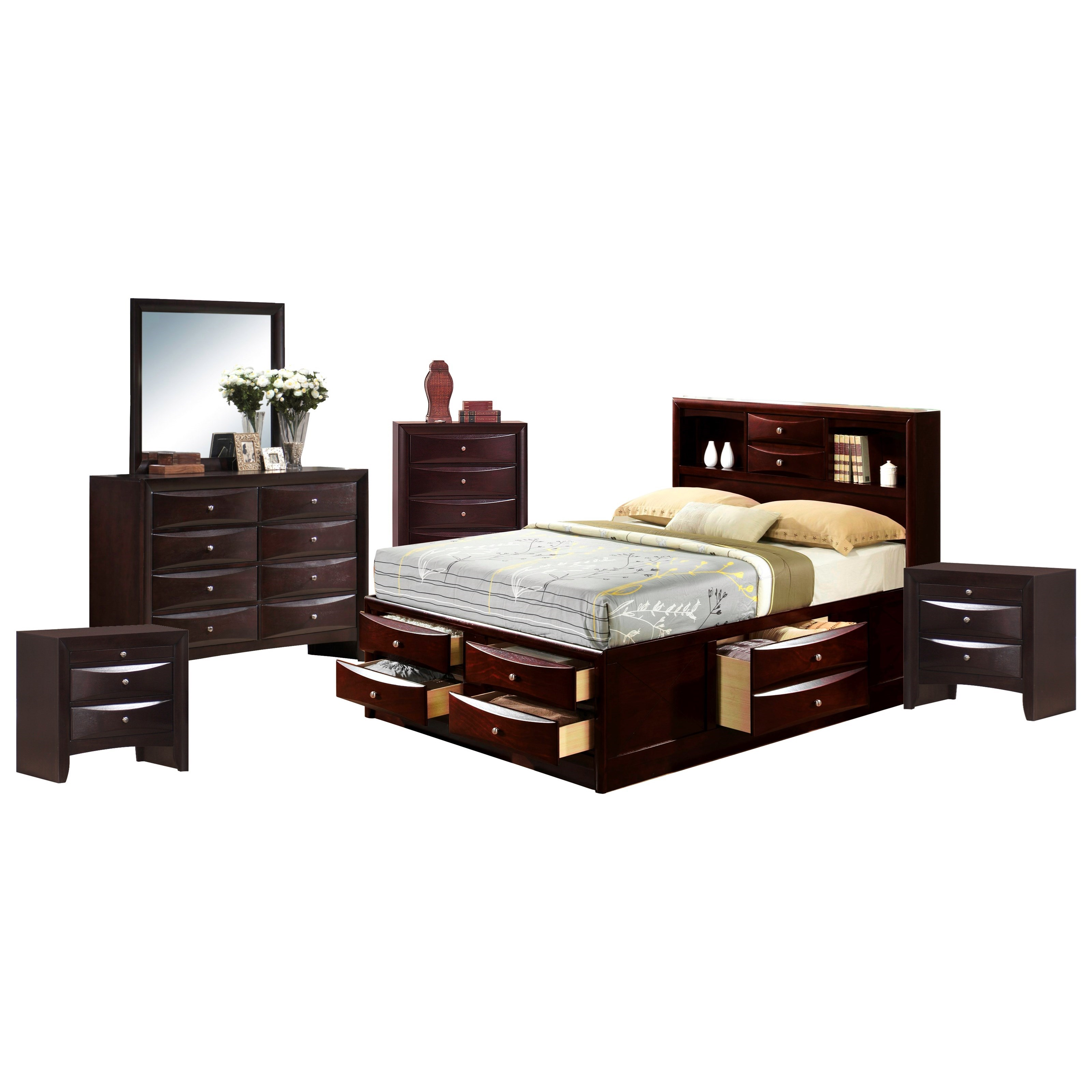 Emily King Bedroom Group by Elements International at Powell's Furniture and Mattress