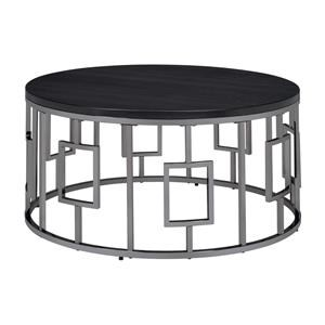 Round Cocktail Table and 2 Round End Tables Set