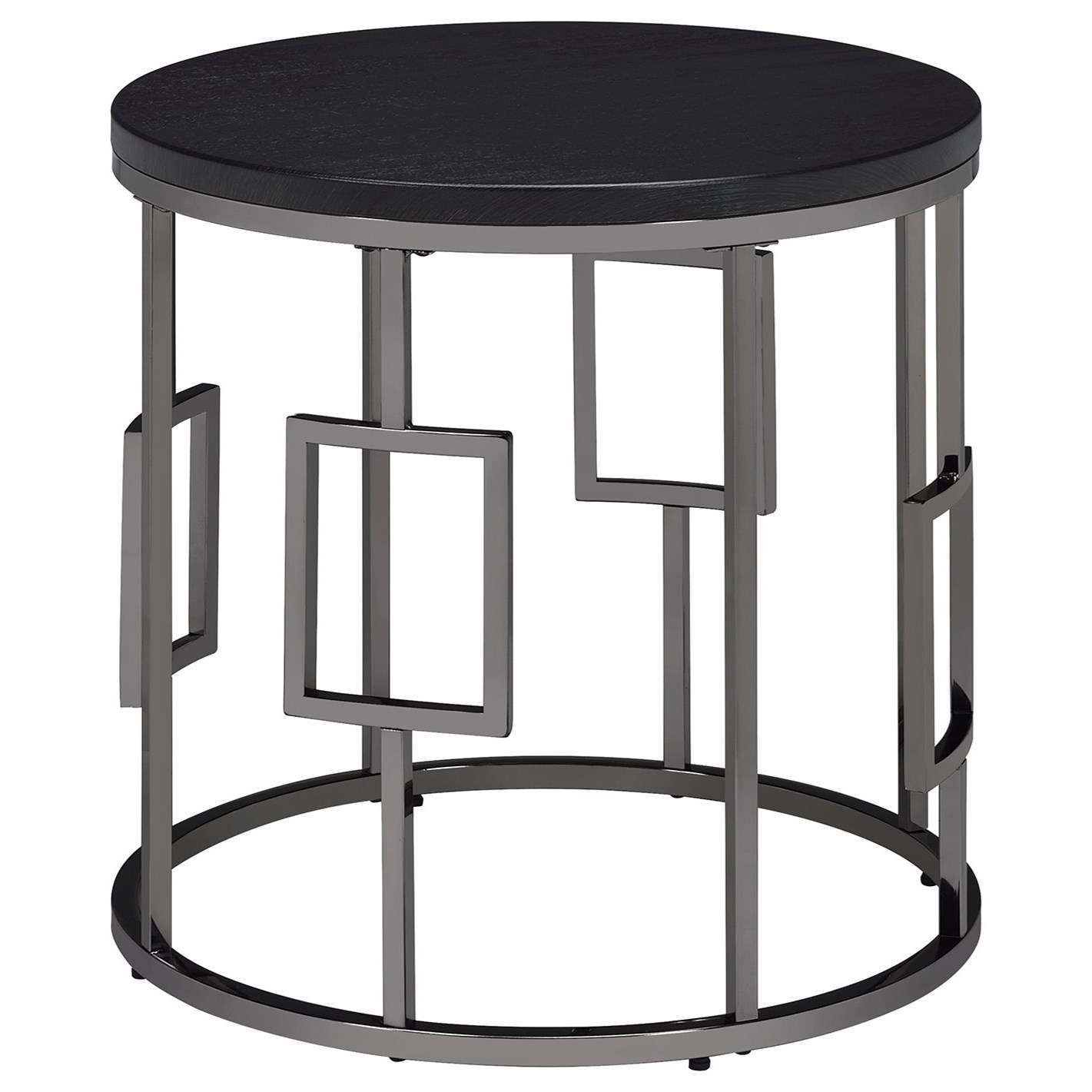 Ester Round End Table by Elements International at Sam Levitz Furniture