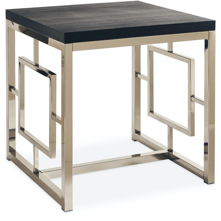 Ezra End Table by Elements International at Becker Furniture