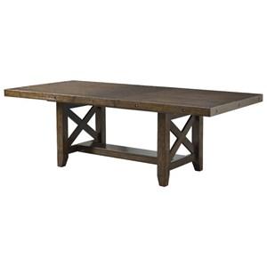 Rustic Dining Table Nailhead Trim