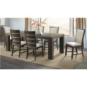 Dining Table, 4 Slat Chair, 2 Upholstery