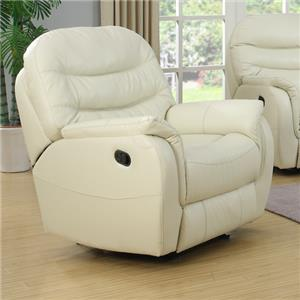 Glider Recliner with Padded Footrest