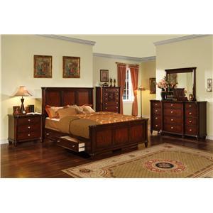 Elements International Hamilton 5 Piece California King Bedroom Set