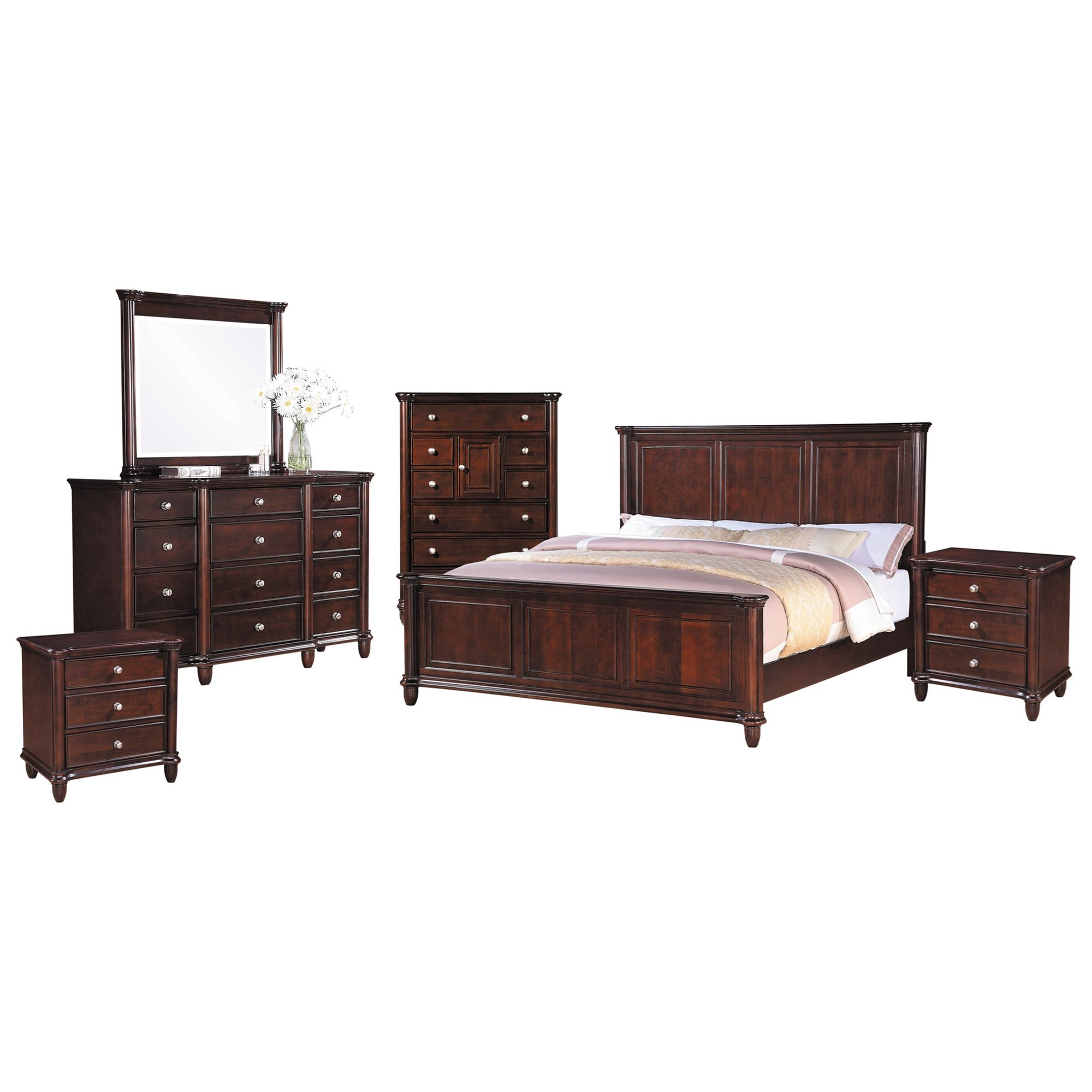 Hamilton King 6 Piece Bedroom Group by Elements International at Lindy's Furniture Company