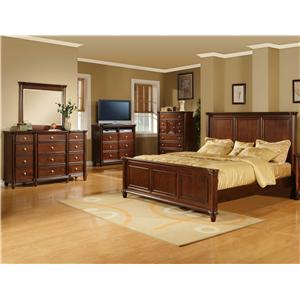 Elements International Hamilton 5 Piece California King Bedroom Group
