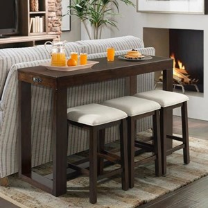 Bar Table Set with Three Stools