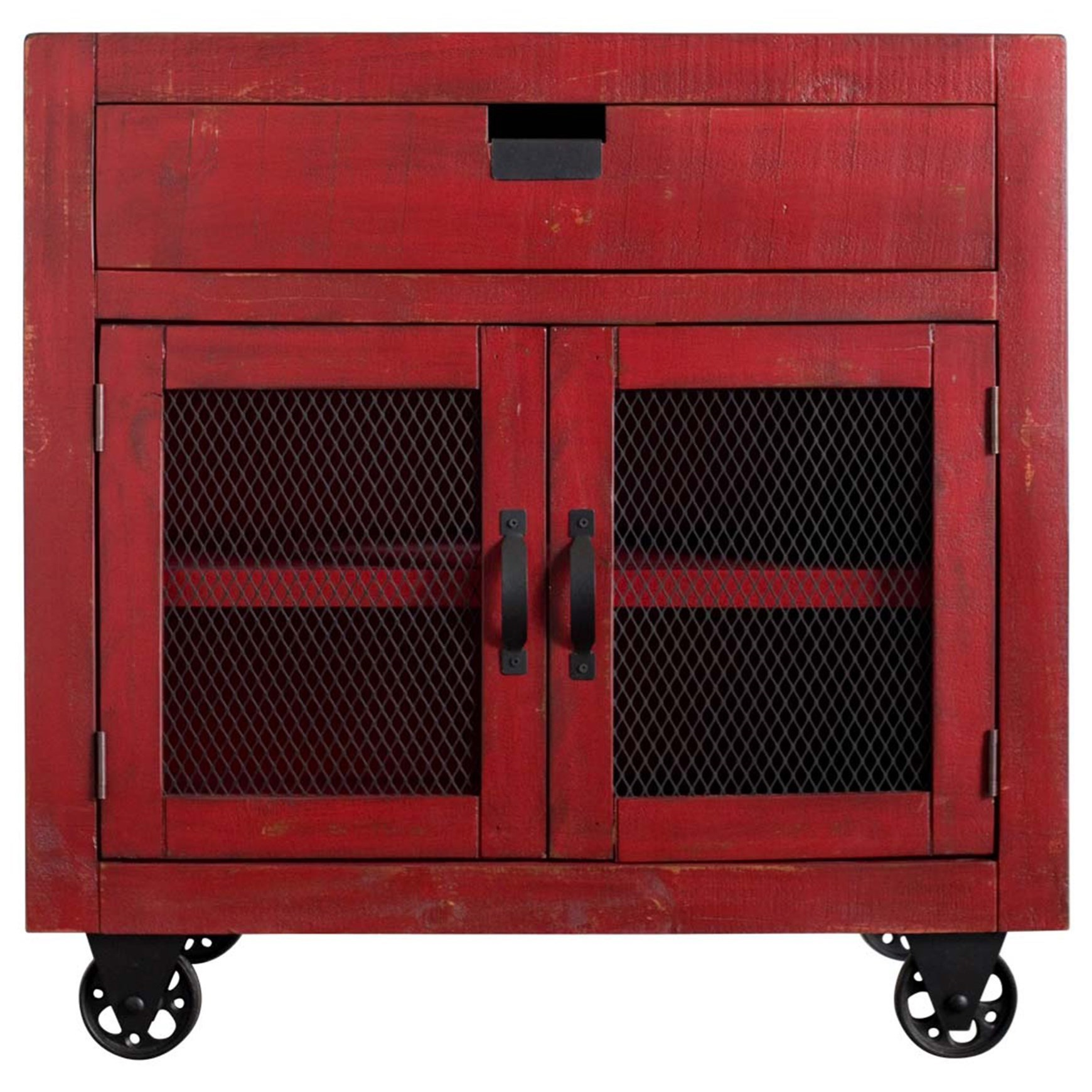 Industrial 2-Door Accent Chest by Elements International at Sam Levitz Outlet