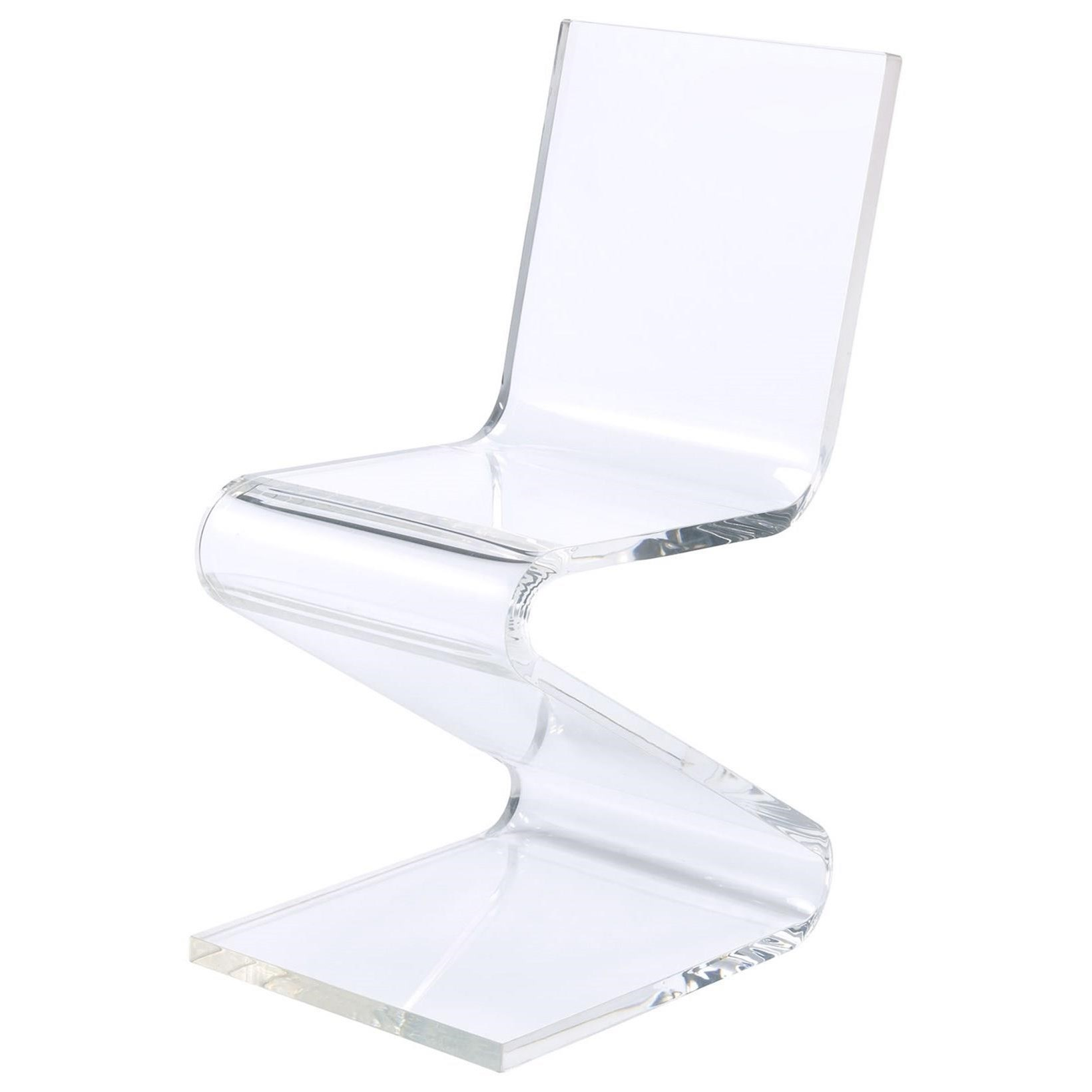 Iris Acrylic Z-Chair by Elements International at Wilcox Furniture
