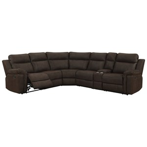 Casual Six Piece Sectional