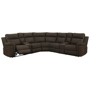 Casual Seven Piece Sectional