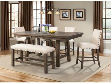 Jax Counter Height Table Set by Elements International at Sam Levitz Furniture
