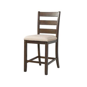 Slat Back Counter Stool with Upholstered Seat