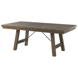 Rustic Dining Table with 18-Inch Leaf