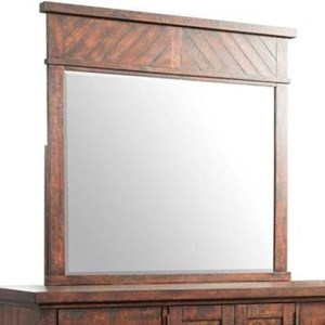 Framed Dresser Mirror with Panel Inlay