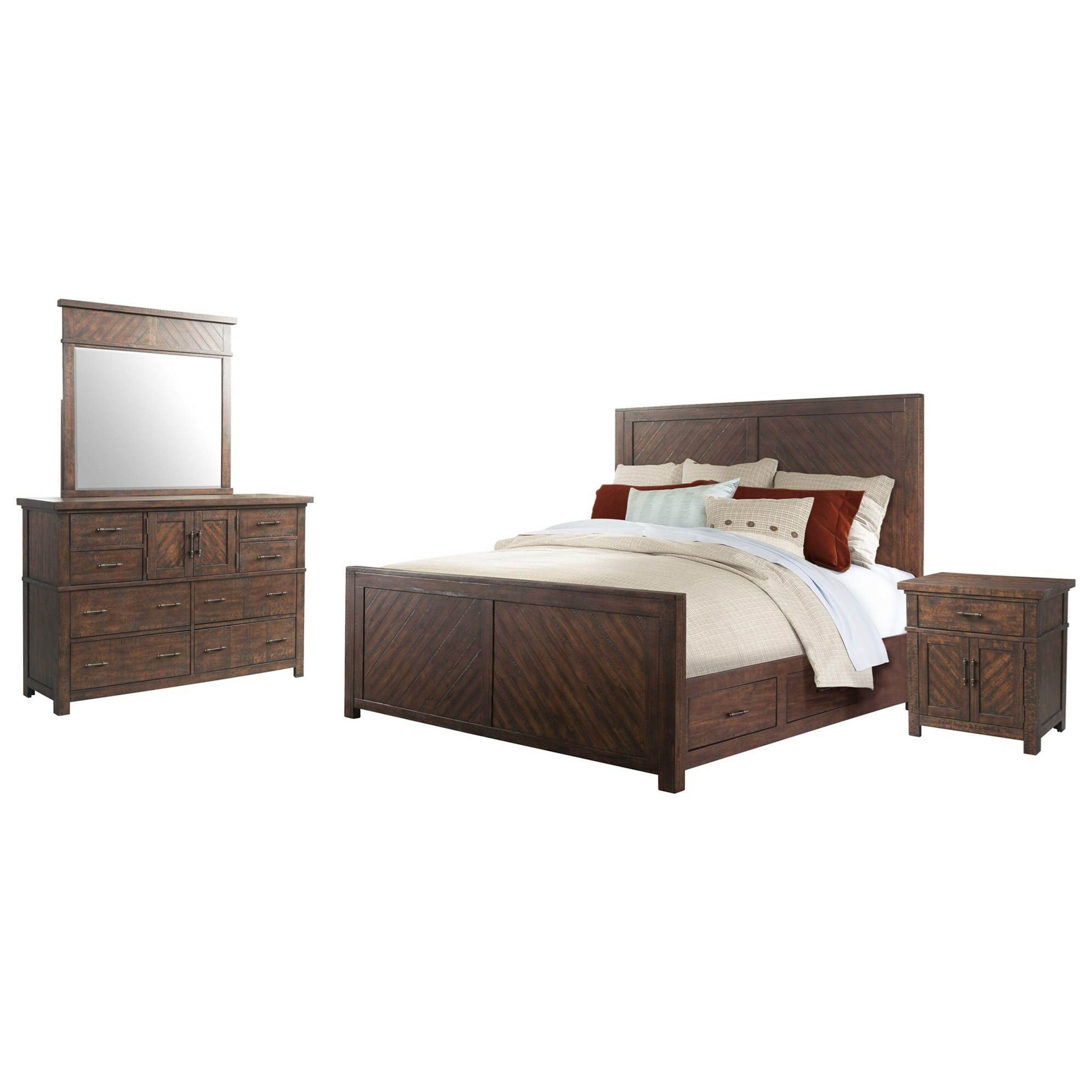 Jax 4-Piece Queen Bedroom Set by VFM Basics at Virginia Furniture Market