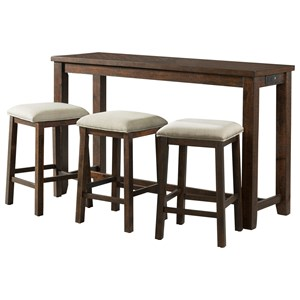 Multipurpose Bar Table Set with USB Ports