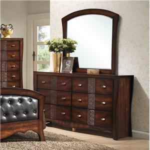 6 Drawer Dresser and Mirror Set