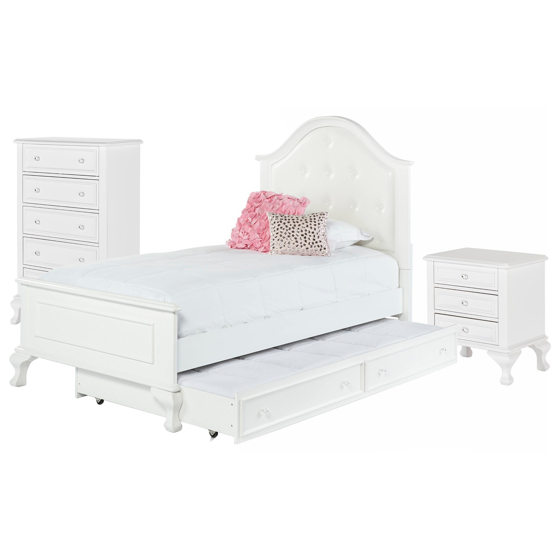 Jesse Twin Bed Room Group by Elements International at Wilcox Furniture