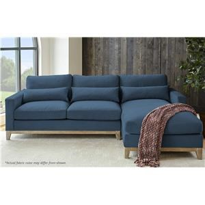 Navy 2-Piece Chaise Sectional