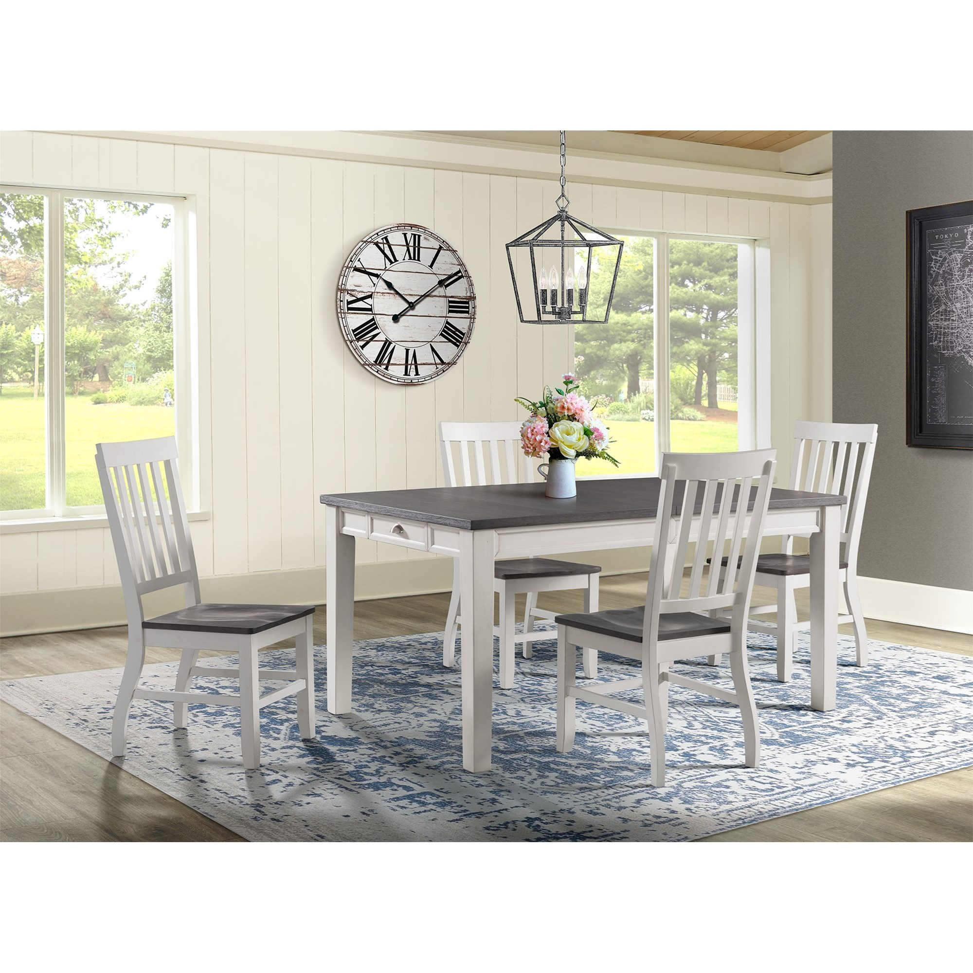 Kayla 5-Piece Dining Table and Chair Set by Elements International at Zak's Home