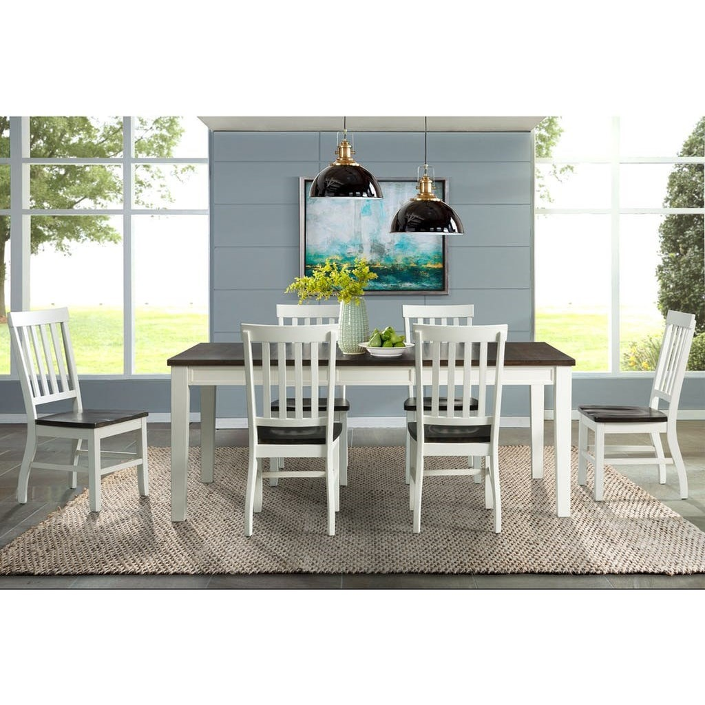 Kayla 7-Piece Dining Table and Chair Set by Elements International at Johnny Janosik
