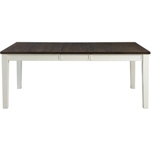 Two-Tone Rectangular Dining Table with 2 Drawers