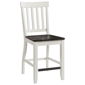 Two-Tone Counter Height Side Chair