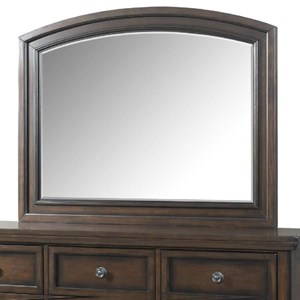 Mirror with Rich Walnut Wood Frame