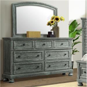 Dresser and Mirror Set with Hidden Drawer