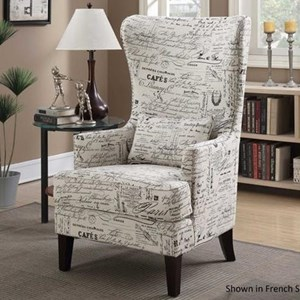 Upholstered Demi-Wing Chair
