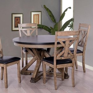 Two-Tone Round Dining Table