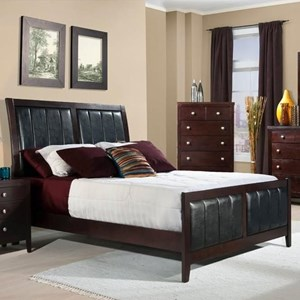 King Bed with Upholstered Panels