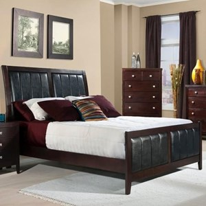 Queen Bed with Upholstered Panels