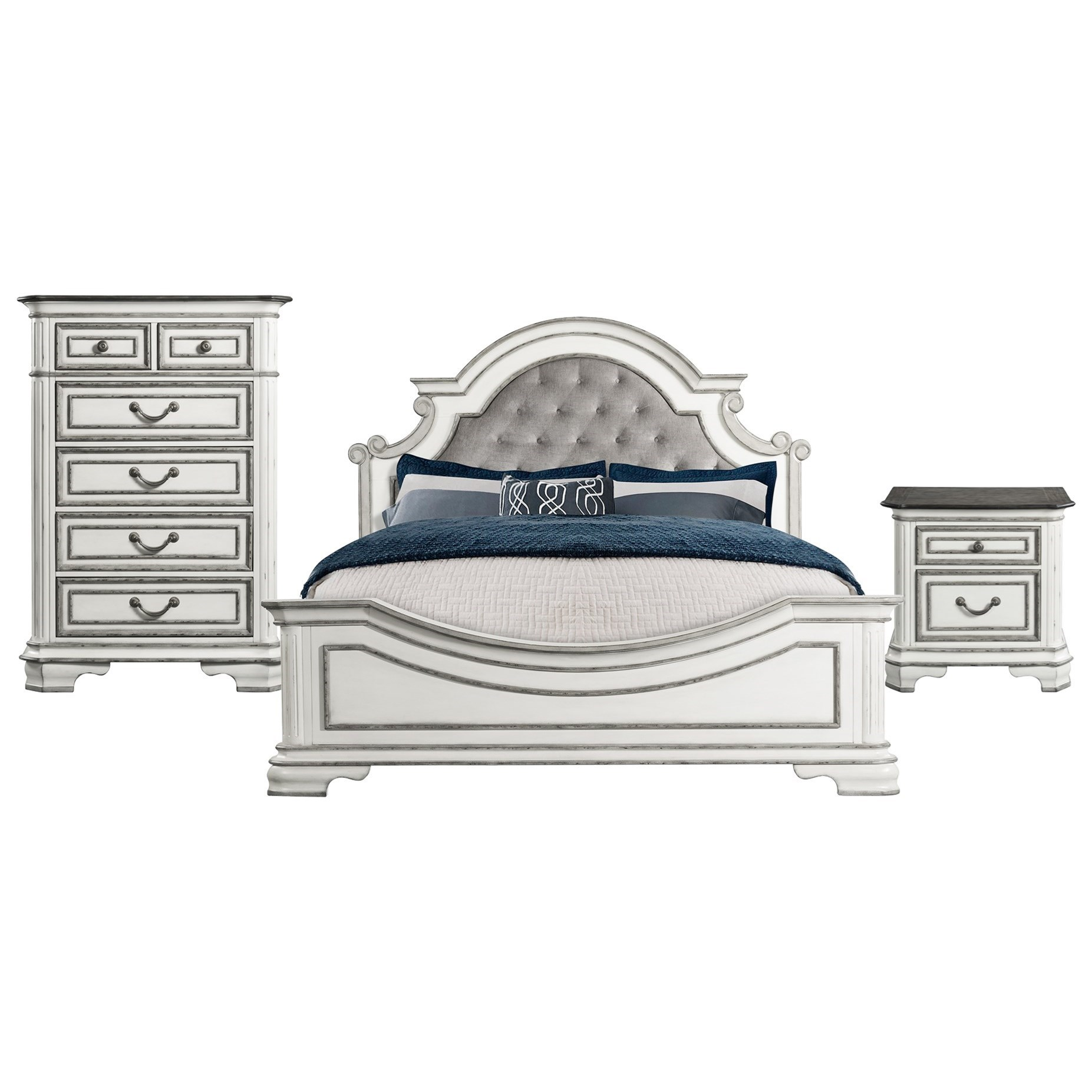 Leighton Manor King Bedroom Group by Elements International at Lindy's Furniture Company