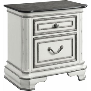 Glamorous Nightstand with USB Ports