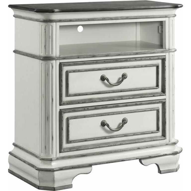 Leighton Manor Media Chest by Elements International at Lindy's Furniture Company