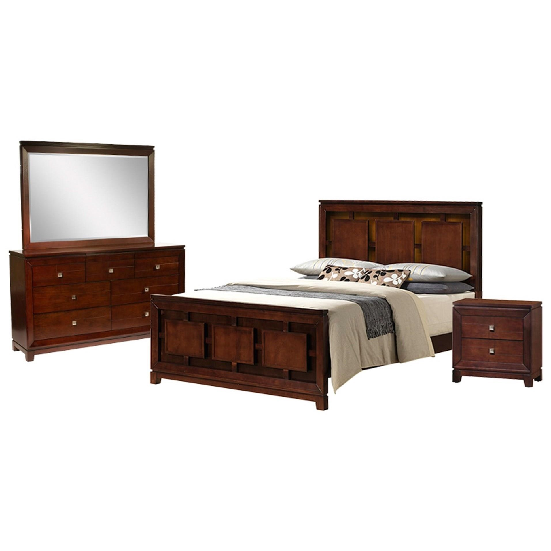 London 4-Piece King Bedroom Set by Elements International at Wilcox Furniture