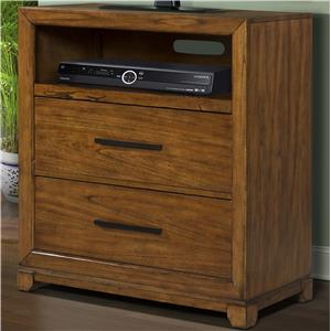 Media Chest with 2 Drawers and 1 Storage Compartment