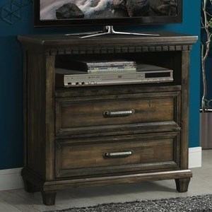 Traditional Media Chest with Dentil Molding