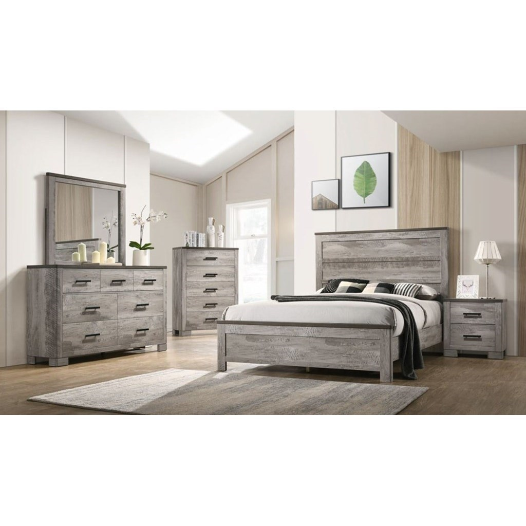 Millers Cove Queen Bedroom Group by Elements International at Lindy's Furniture Company