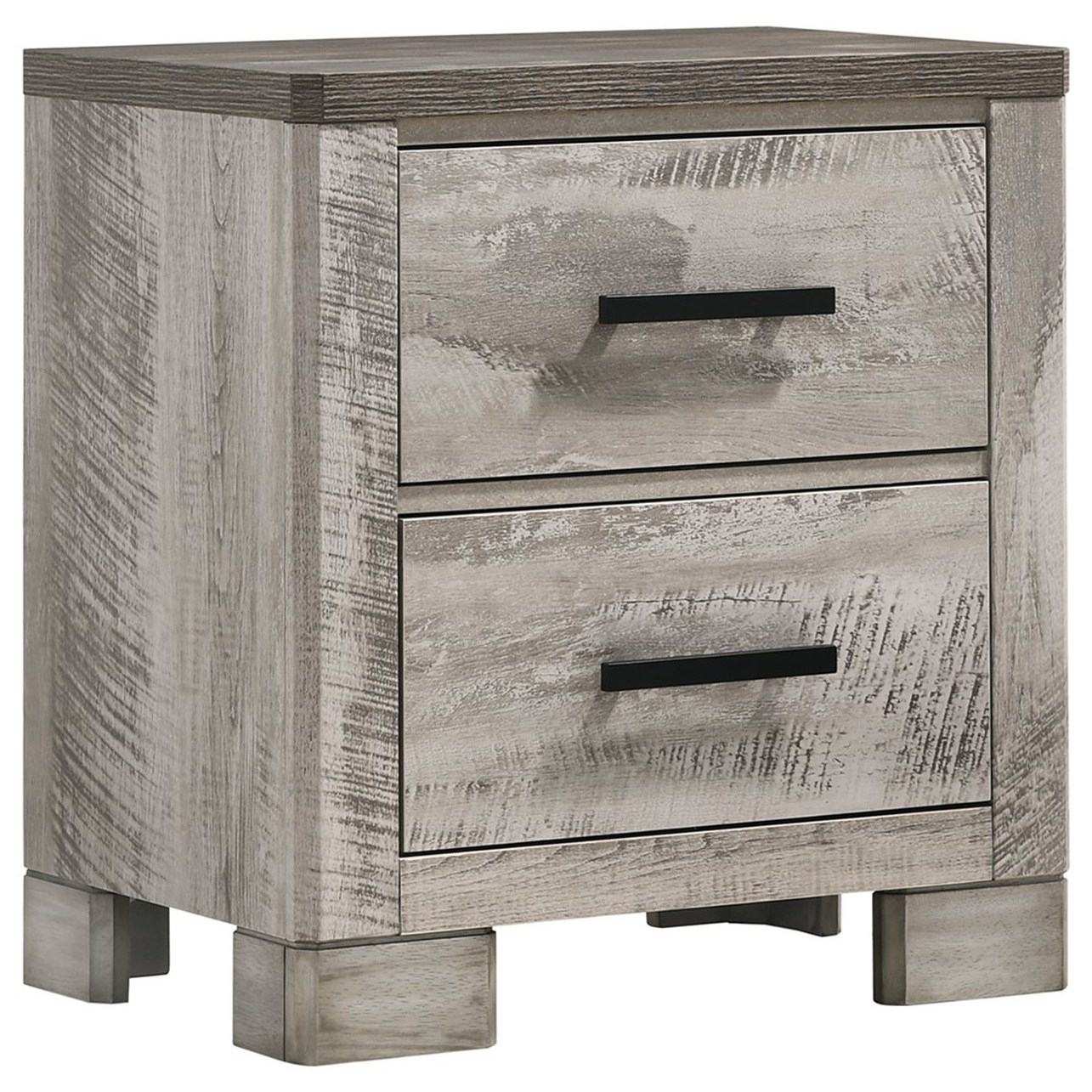 Millers Cove 2-Drawer Nightstand by Elements International at Household Furniture